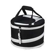 Picnic At Ascot 24 Can Compact Pop-Up Cooler; Black and Grey