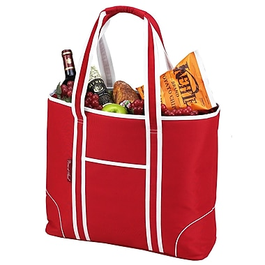 Picnic At Ascot Classic Large Insulated Tote Picnic Cooler; Red