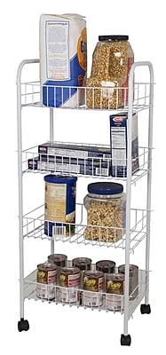 Home Basics 4-Tier Kitchen Cart