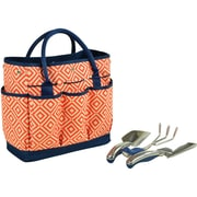 Picnic At Ascot Deluxe Fabric 4 Piece Garden Tote