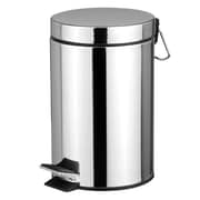 Home Basics 5.28 Gallon Step-On Stainless Steel Trash Can