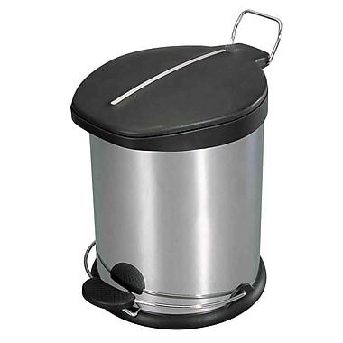 Home Basics 3.17 Gallon Step-On Trash Can w/ Plastic Top