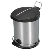 Home Basics 3.17 Gallon Step-On Trash Can w/ Plastic Top