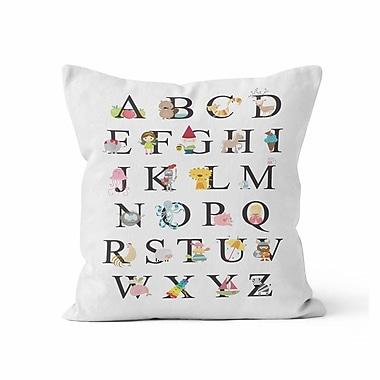 Kalilaine Creation Alphabet Throw Pillow; 18'' H x 18'' W x 3'' D