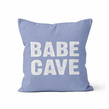 Kalilaine Creation Babe Cave Throw Pillow; 16'' H x 16'' W x 3'' D