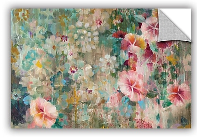 ArtWall Danhui Nai Flower Shower Crop Wall Decal; 24'' H x 36'' W x 0.1'' D