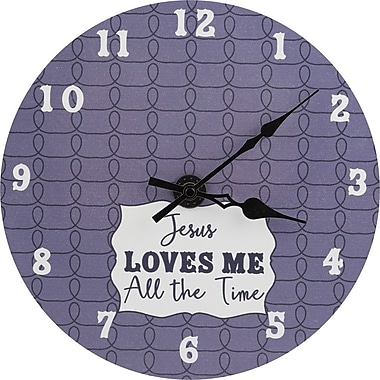 Carpentree Faith Jesus Loves Me All The Time 11.75'' Wall Clock