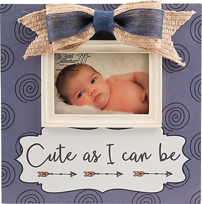Carpentree Faith Cute As I Can Be Baby Boy Picture Frame