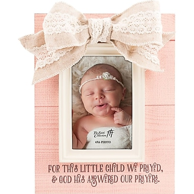 Carpentree Faith For This Child Baby Girl Picture Frame