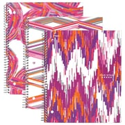"Mead Five Star® Style Wirebound Notebook, 3 Subject, College Ruled, 11"" x 8 1/2"", Assorted Designs (08343)"