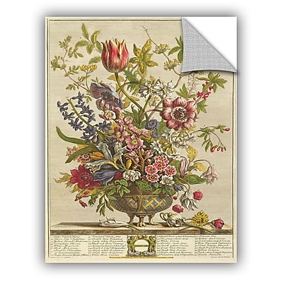 ArtWall Pieter Casteels February From Twelve Months of Flowers Wall Decal; 32'' H x 24'' W x 0.1'' D