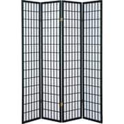 Major-Q 70'' x 72'' 4 Panel Room Divider; Black