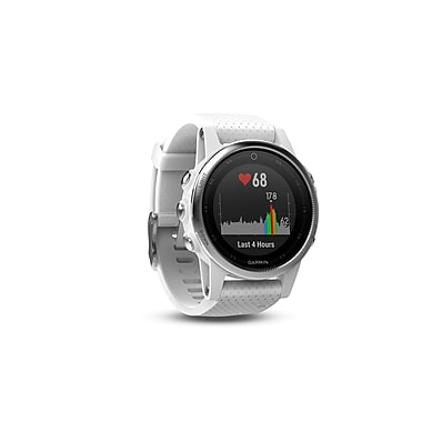 Garmin – Montre intelligente GPS multisport fenix® 5S, 42 mm, blanc/blanc Carrare (010-01685-00)