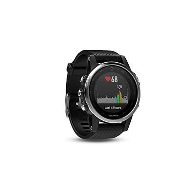 Garmin – Montre intelligente GPS multisport fenix® 5S, 42 mm, argent/noir (010-01685-02)