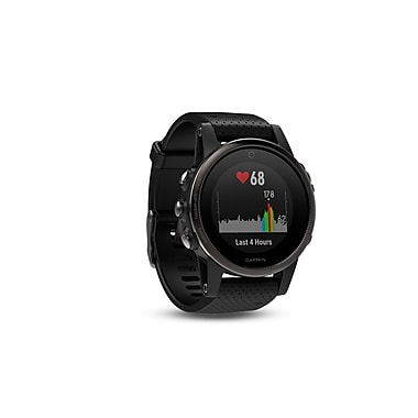 Garmin – Montre intelligente GPS multisport fenix® 5S édition Sapphire, 42 mm, noir/noir (010-01685-10)