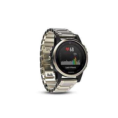 Garmin – Montre intelligente GPS multisport fenix® 5S édition Sapphire, 42 mm, champagne/métal (010-01685-14)