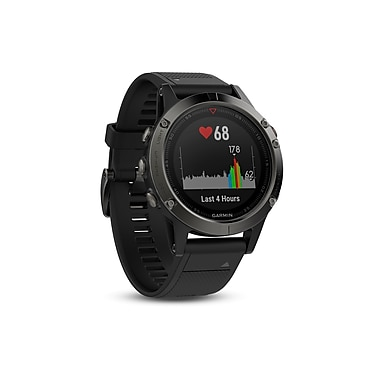 Garmin – Montre intelligente GPS multisport fenix® 5 édition Sapphire, 47 mm, noir/noir (010-01688-10)