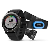 Garmin fenix® 5 Multisport GPS Smart Watch Performer Bundle, Slate Grey/Black (010-01688-30)