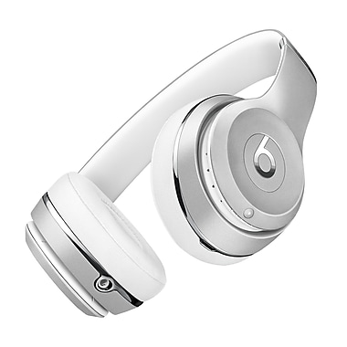 Beats Solo3 Bluetooth On-Ear Headphones, Silver (MNEQ2LL/A)