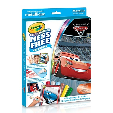 Crayola Cars 3 Colour Wonder Kit, Metallic