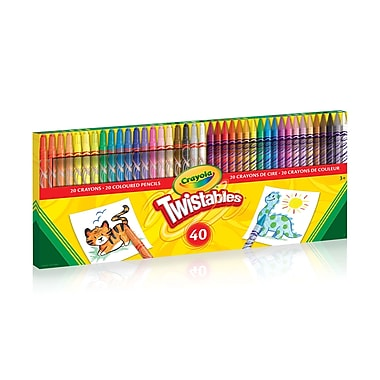 Crayola Twistables Crayons Coloured Pencil Kit 40pack Staples