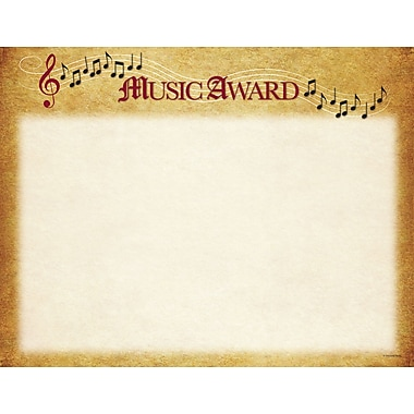 Great Papers® Music Certificate, 11