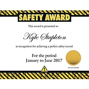 """Great Papers® Safety Certificate, 11"""" x 8.5"""", 25/Pack (2015110)"""