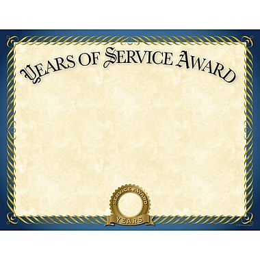 Great Papers® Years of Service Certificate, 11