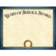 "Great Papers® Years of Service Certificate, 11"" x 8.5"", 20/Pack (2015113)"
