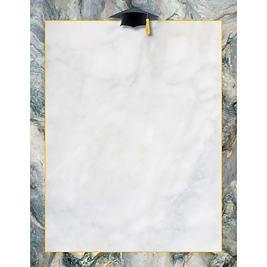 Great Papers® Marble Grad Hat Letterhead, 8.5