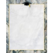 """Great Papers® Marble Grad Hat Letterhead,  8.5"""" x 11"""", 80/Pack (2015116)"""
