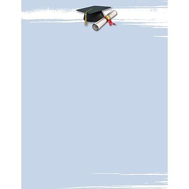 Great Papers® Graduation Brush Letterhead, 8.5