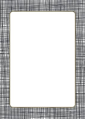 Great Papers® Cross Stitch Flat Card , 5.5