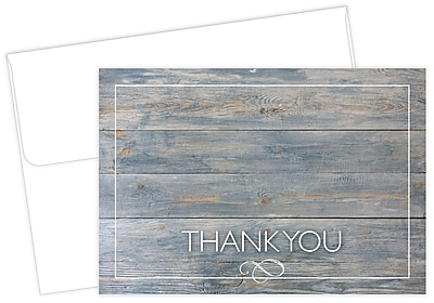 Great Papers® Driftwood Thank You Card, 4.875