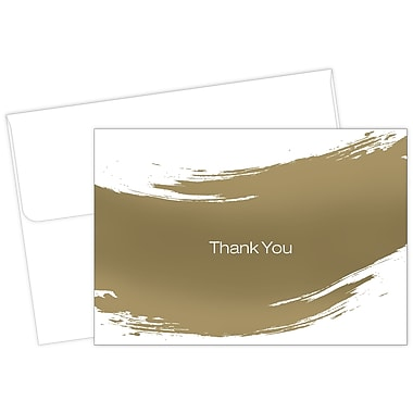 Great Papers® Gold Brush Thank You Card, 4.875