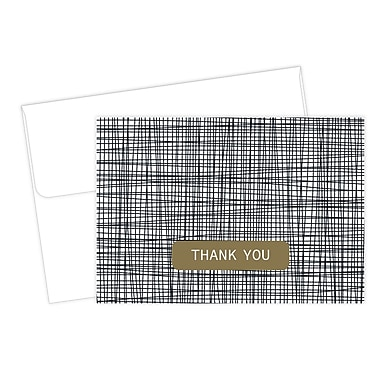 Great Papers® Cross Stitch Thank You Card, 4.875