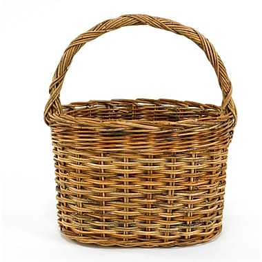 Mainly Baskets Cottage Powder Room Rattan Basket