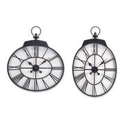 Melrose Intl. Oversized 2 Piece Oval Wall Clock Set