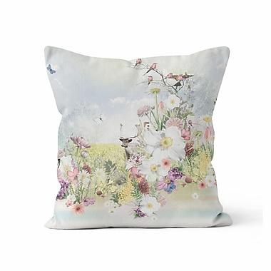 Kalilaine Creation Deer Wilderness Throw Pillow; 18'' H x 18'' W x 3'' D