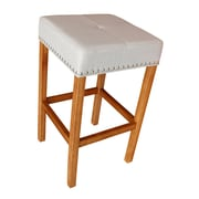 ALKBrands Alan's 30.25'' Bar Stool (Set of 2); Walnut