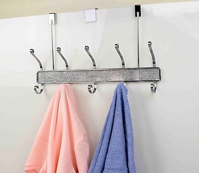 Home Basics 5 Hook Wall Mounted Coat Rack WYF078280127851