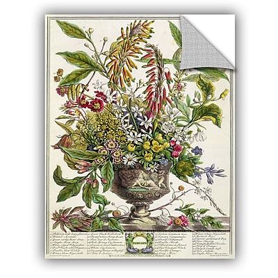 ArtWall Pieter Casteels January From Twelve Months of Flowers Wall Decal; 10'' H x 8'' W x 0.1'' D