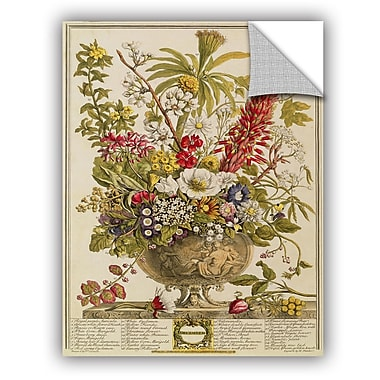 ArtWall Pieter Casteels December From Twelve Months of Flowers Wall Decal; 18'' H x 14'' W x 0.1'' D