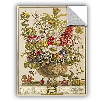 ArtWall Pieter Casteels December From Twelve Months of Flowers Wall Decal; 10'' H x 8'' W x 0.1'' D