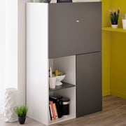 Parisot Flip Multifunctional 2 Door Accent Cabinet; Gray Anthracite