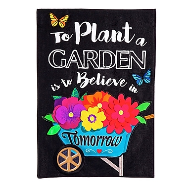 Evergreen Enterprises, Inc Plant Garden, Burlap Garden Flag