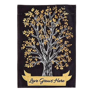 Evergreen Enterprises, Inc Love Grows Here Burlap Garden Flag
