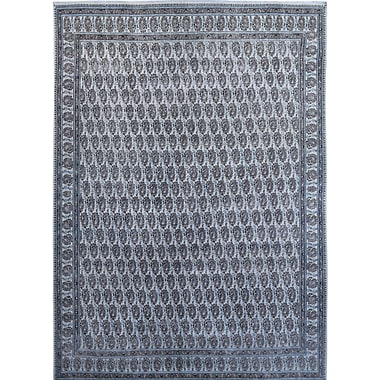 Wildon Home Vintage Hand-Knotted Blue/Gray Area Rug