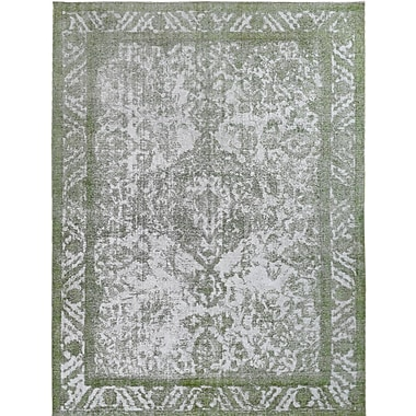 Wildon Home Vintage Hand-Knotted Gray/Green Area Rug
