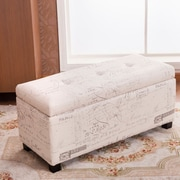 Warehouse of Tiffany Addison Upholstered Storage Entryway Bench